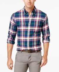 John Ashford Men's Long Sleeve Plaid Shirt Only At Macy's Dark Forest