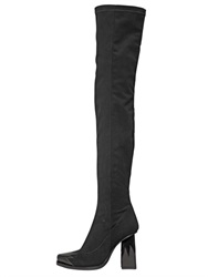 Msgm 90Mm Stretch Neoprene And Suede Boots