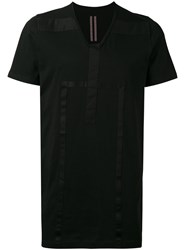 Rick Owens Drkshdw V Neck Panel T Shirt Men Cotton S Black