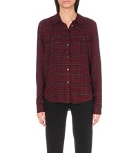 Paige Denim Mya Woven Shirt Black Deep Syrah