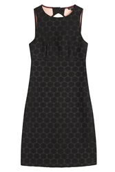 Tara Jarmon Shift Dress With Cut Out Back Black