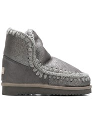 Mou Eskimo Metallic Boots Grey