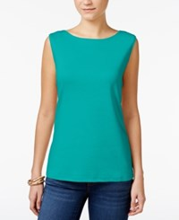 Karen Scott Boat Neck Tank Top Only At Macy's Crisp Teal