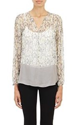 Barneys New York Chiffon Blouse Grey