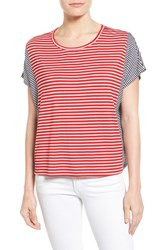 Women's Bobeau Stripe Dolman Sleeve Knit Top