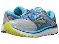 Brooks Glycerin 14 Silver Blue Atoll Lime Punch Women's Running Shoes Gray