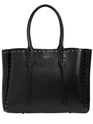 Lanvin Studded Nappa Leather Tote Bag Black