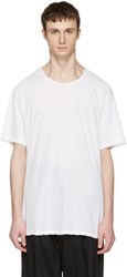 Attachment White Slight Oversized T Shirt