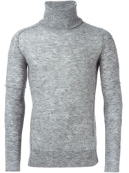Diesel Black Gold Turtleneck Knit Sweater Grey