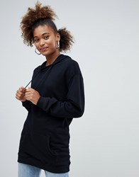 Pull And Bear Pullandbear Longline Sweater With Hood Black