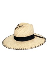 Peter Grimm Delfina Raffia Resort Hat Brown Natural