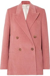 Acne Studios Double Breasted Cotton Blend Corduroy Blazer Antique Rose