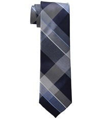 Kenneth Cole Reaction Track Plaid Navy Ties
