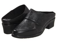 Walking Cradles Caden Black Tooled Leather Women's Clog Shoes