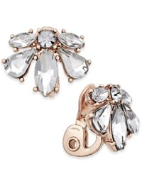 Charter Club Crystal Clip On Earrings Only At Macy's Rose Gold