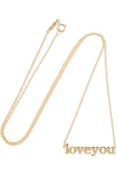 Jennifer Meyer Love You 18 Karat Gold Necklace