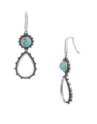 Lord And Taylor Sterling Silver Pear Shaped Drop Earrings