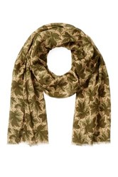 Gant Make Beleaf Scarf Green