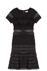 Jonathan Simkhai Raffia Mechanical Dress Black