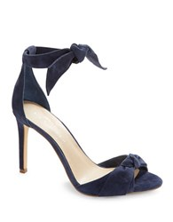 424 Fifth Faye Suede Heels Evening Blue