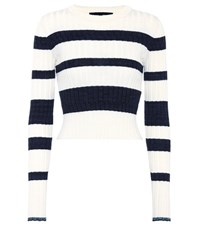 Proenza Schouler Wool Silk And Cashmere Cropped Sweater Multicoloured