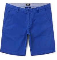 Hugo Boss Slim Fit Stretch Cotton Twill Shorts Blue