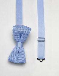 Noose And Monkey Knitted Bow Tie Blue