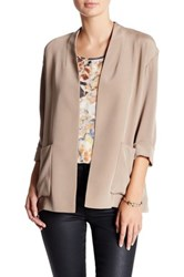 Lafayette 148 New York Chesney Silk Blazer Petite Brown