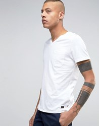 Produkt V Neck T Shirt With Pocket White