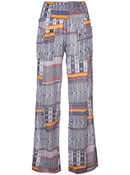 Lemlem Kente Printed Beach Trousers Blue