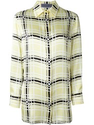 Emanuel Ungaro Checked Shirt Yellow And Orange