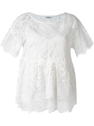 P.A.R.O.S.H. Embroidered Lace Blouse White