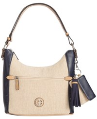 Giani Bernini Contrast Hobo Only At Macy's Navy Natural