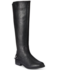 Nautica Ridgeland Wide Calf Riding Boots Women's Shoes Black