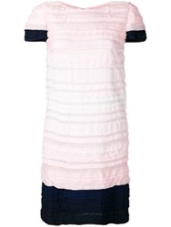 Chanel Vintage 2009'S Pleated Short Dress Pink