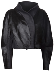 Steffie Christiaens Fitted High Collar Jacket Black