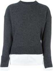 Joseph Crew Neck Jumper Grey
