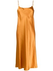 Vince Shine Effect Slip Dress Yellow