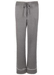 Equipment Avery Star Print Washed Silk Trousers Black And White