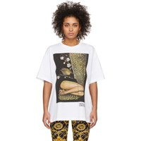 Versace Jeans Couture White Couture Leopard T Shirt