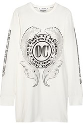 Opening Ceremony Bill Printed Cotton Jersey Top White