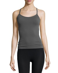 Nux Focus T Back Camisole Tank Metallic Gray