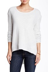 Sweet Romeo Solid Thermal Pullover Gray