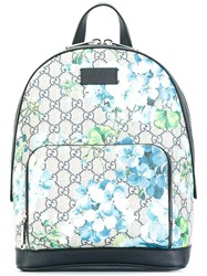 Gucci Floral Print Small Backpack Blue