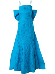 Bambah Fish Tail Gown Women Polyester 12 Blue