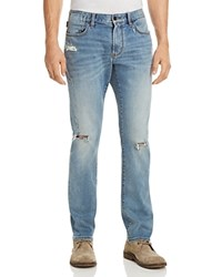 John Varvatos Star Usa Wight Slim Fit Jeans In Distressed Blue 100 Exclusive Indigo Blue