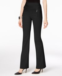 Inc International Concepts Petite Zip Pocket Wide Leg Pants Only At Macy's Deep Black