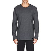 Hanro Night And Day Cotton Long Sleeve T Shirt Gray