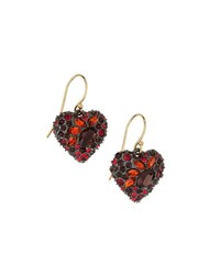 Alexis Bittar Encrusted Black Cherry Heart Earrings Women's