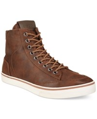 Guess Cognac High Top Boots Men's Shoes